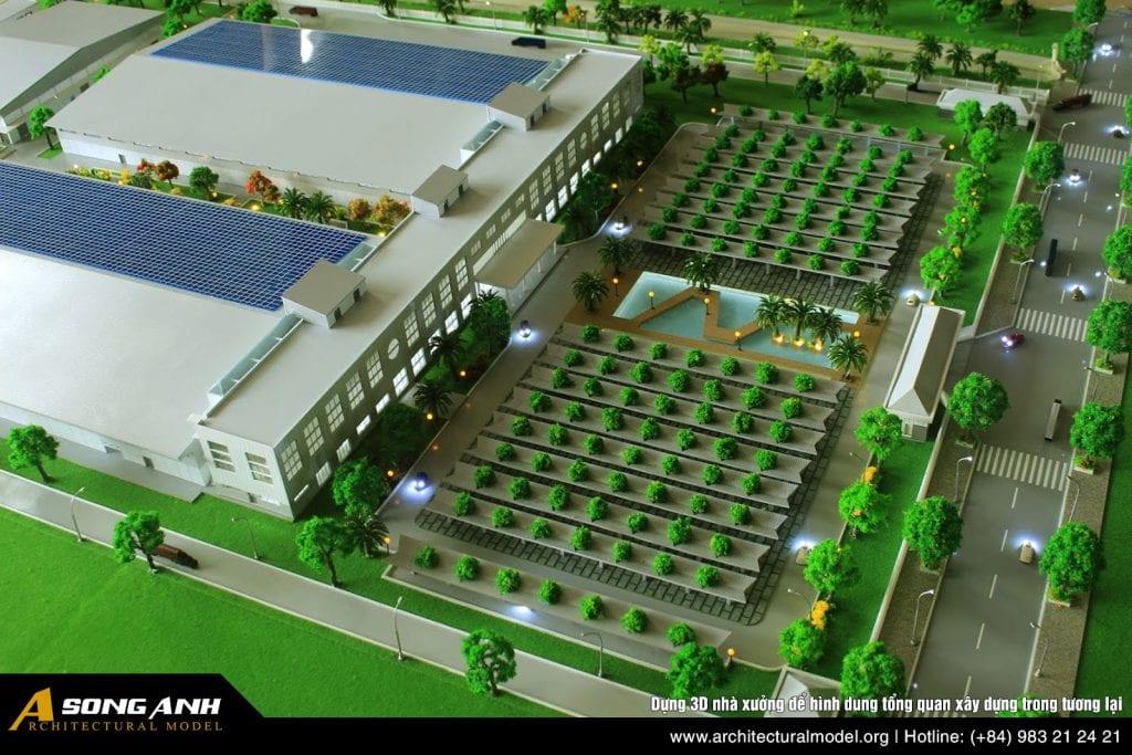 Dựng 3D nhà xưởng để hình dung tổng quan xây dựng trong tương lại