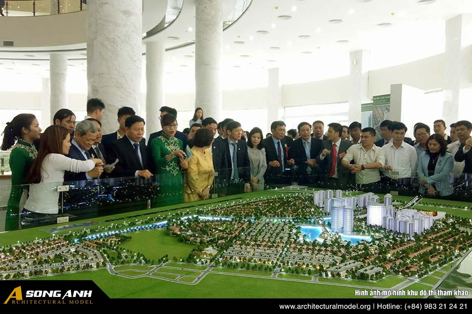Hình ảnh mô hình khu đô thị tham khảo 1