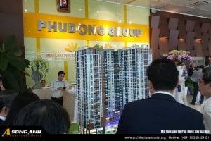 Mô hình căn hộ Phú Đông Sky Garden