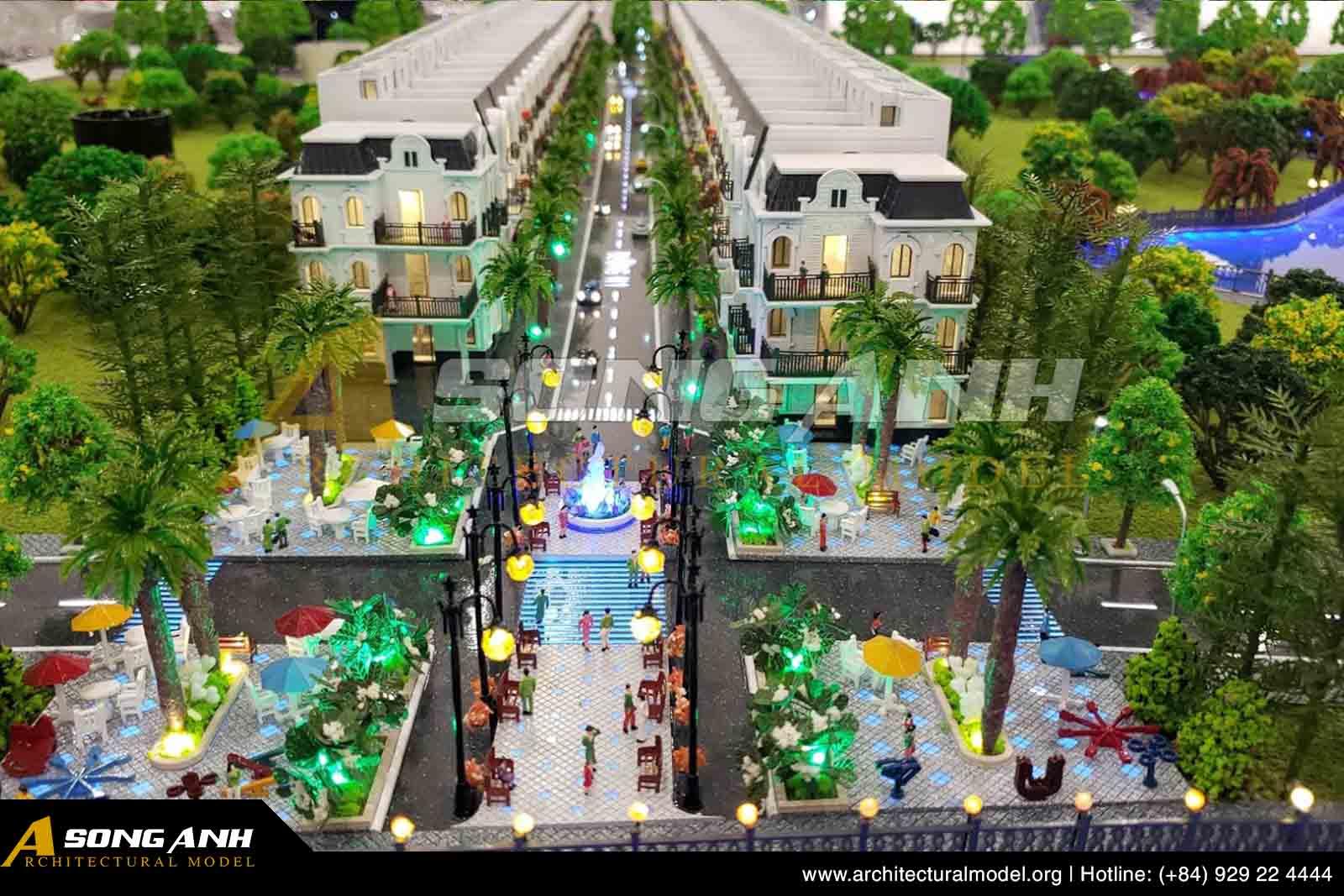 Mô hình nhà phố ven sông TPS Land Nguyễn Xiển