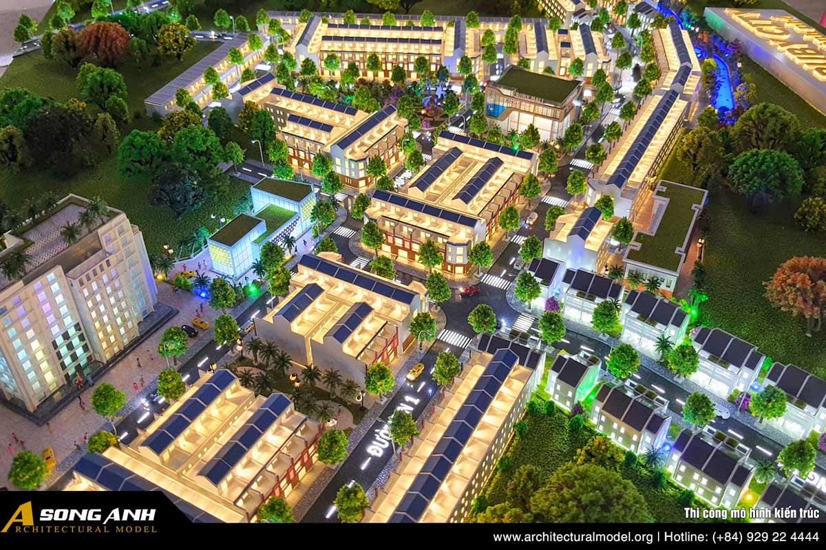 Mô hình khu đô thị Ruby City Bình Phước